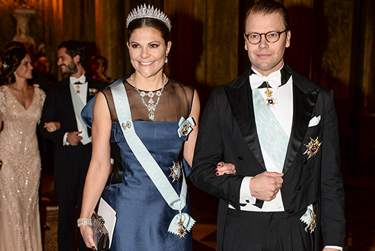 Crown Princess Victoria and Prince Daniel Nobel Laureates Dinner