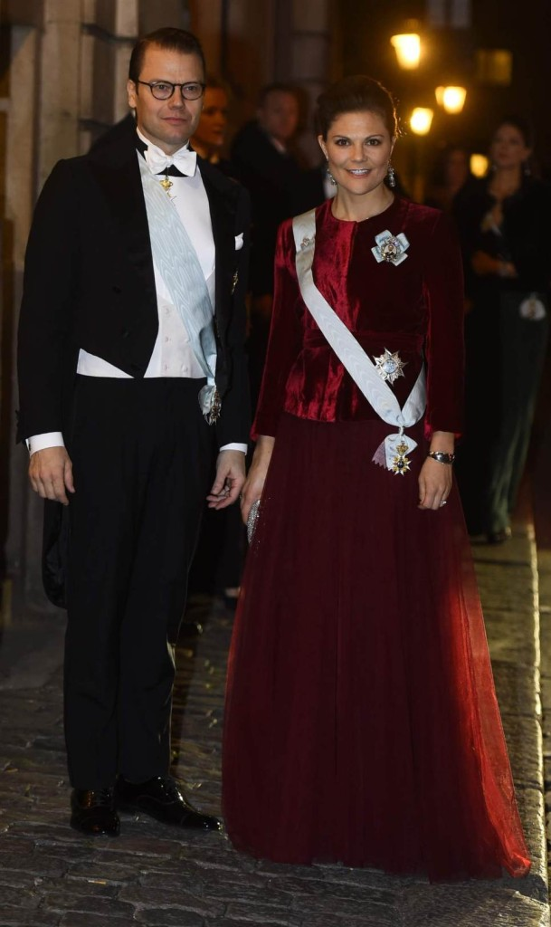 Crown Princess Victoria and Prince Daniel at Swedish Academy Formal Gathering