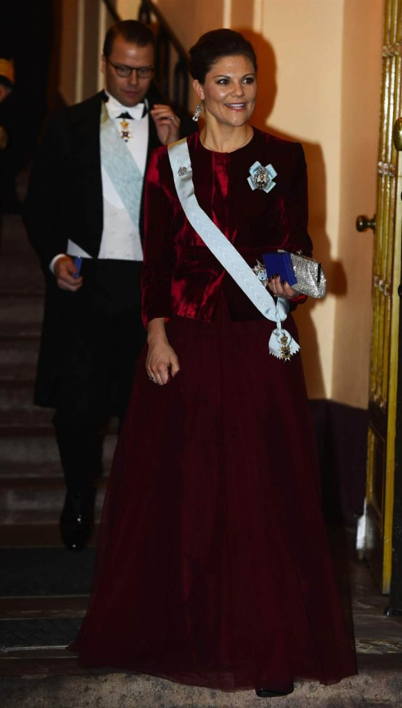 Crown Princess Victoria at Swedish Academy formal gathering