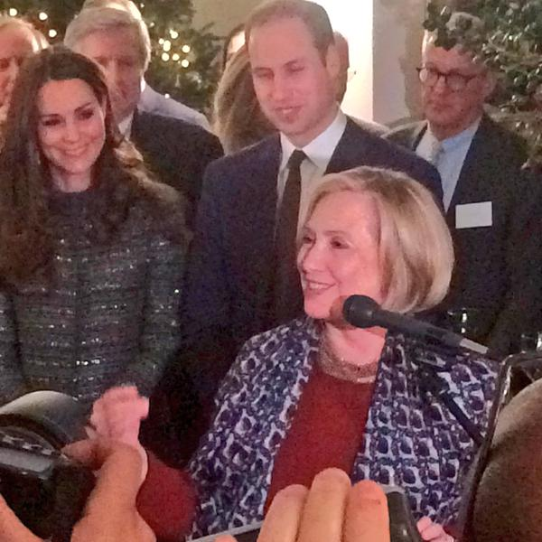 Hillary Clinton speaking at conservation reception