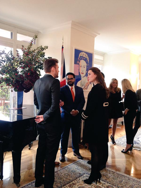Kate at British Consul lunch