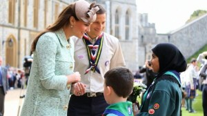 Kate at the Scouts parade at Windsor Castle 2