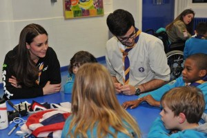 Kate chatting with Scouts