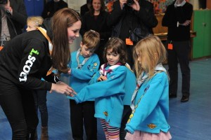 Kate handing out disability badge