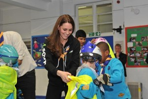 Kate helping Scouts