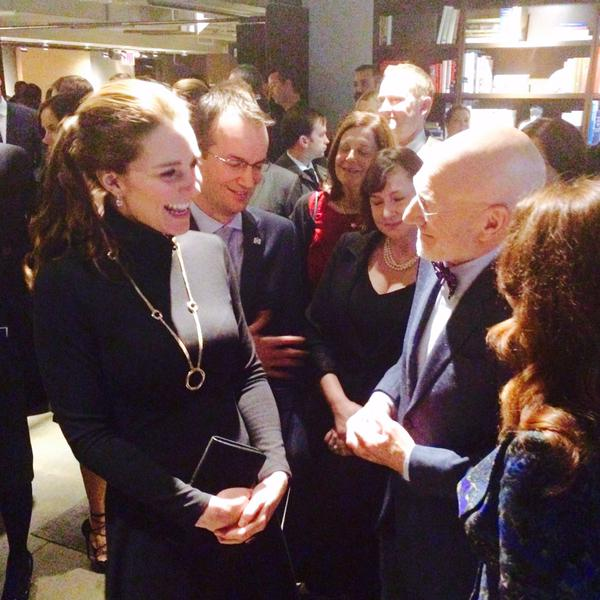 Kate meets Patrick Stewart at GREAT Reception