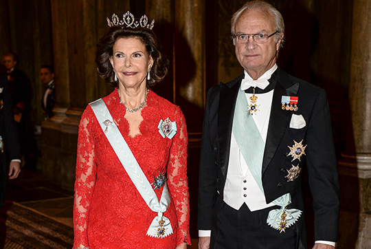King Carl XVI Gustaf and Queen Silvia Nobel Laureates Dinner