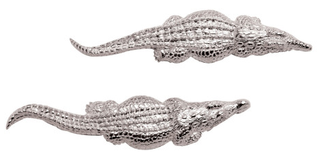 Patrick Mavros Crocodile Stud Silver Earrings