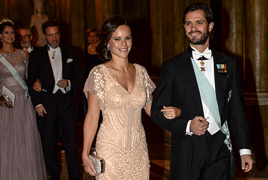 Prince Carl Philip and Sofia Hellqvist Nobel Laureates Dinner