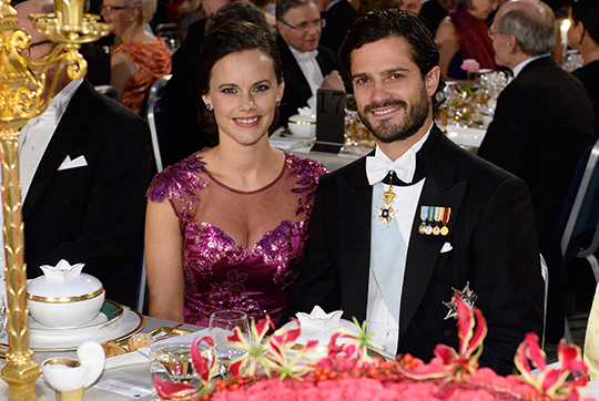 Prince Carl Philip and Sofia Hellqvist Nobel Prize Banquet