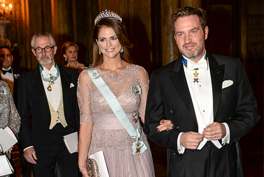 Princess Madeleine and Chris O'Neill Nobel Laureates Dinner