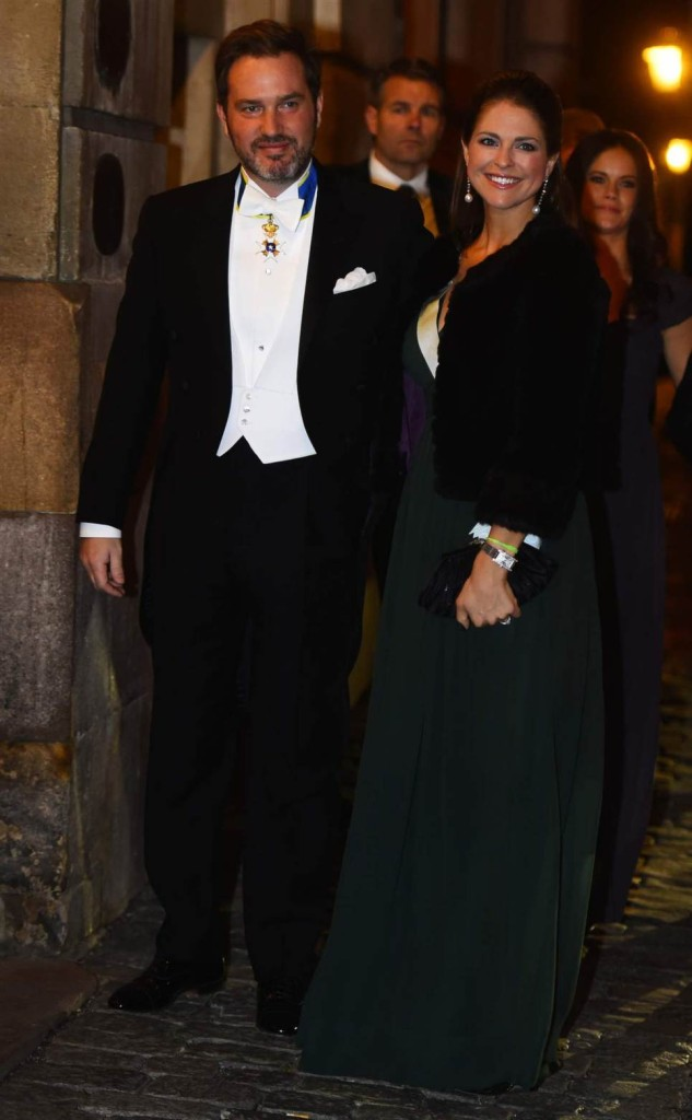 Princess Madeleine and Chris O'Neill at Swedish Academy formal gathering