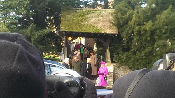 Royals leave church after Christmas service