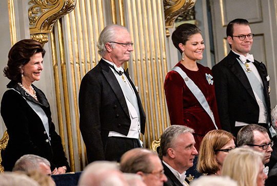 Swedish Royal Family at Swedish Academy formal gathering 1