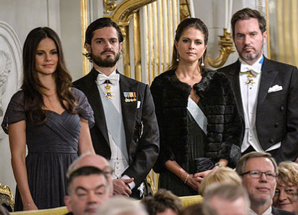 Swedish Royal Family at Swedish Academy formal gathering 3