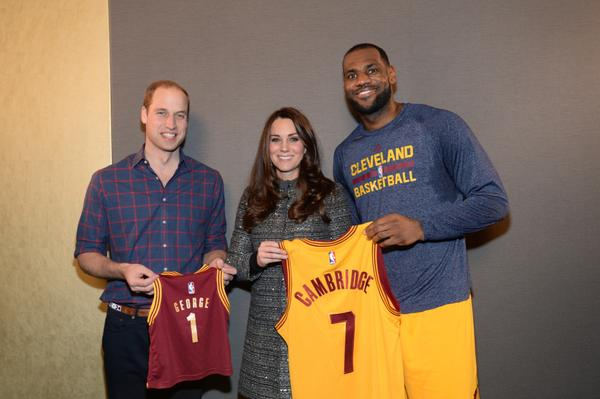 Will and Kate meet LeBron James