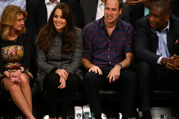 Will and Kate sit courtside for NBA game