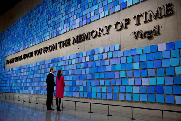 Will and Kate tour September 11 Memorial museum Virgil Quote 2