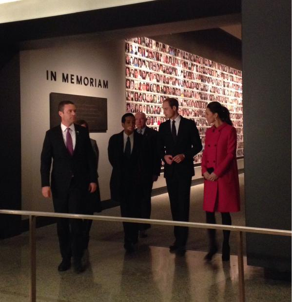 Will and Kate tour September 11 Memorial museum