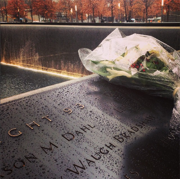 Will and Kate's bouquet at September 11 Memorial