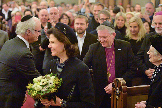 Carl XVI Gustaf and Silvia at Holocaust memorial ceremony