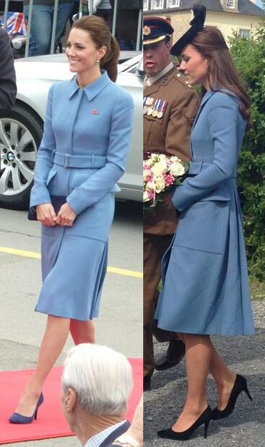 Kate Alexander McQueen bespoke light blue coat