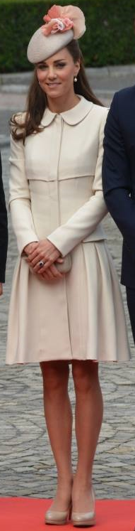 Kate Alexander McQueen cream coatdress