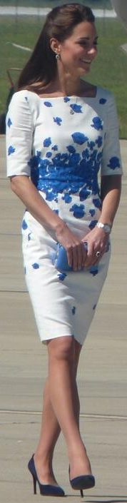 Kate LK Bennett Lasa blue & white poppy dress