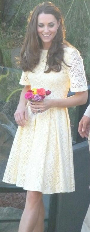 Kate No Id yellow broderie anglaise dress