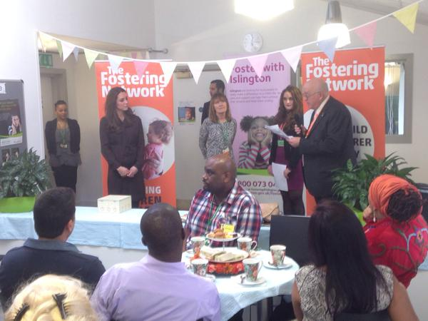 Kate being thanked by people at Foster Network