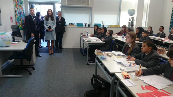Kate joins class at Kensington Aldridge Academy