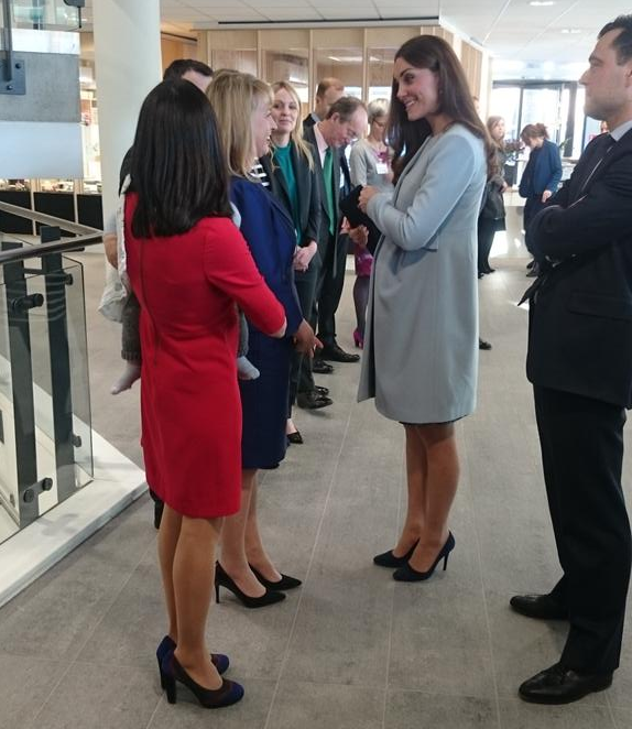 Kate meets staff at Kensington Aldridge Academy 2