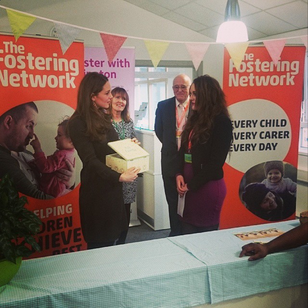 Kate receives a 'Memory Box' at the Fostering Network
