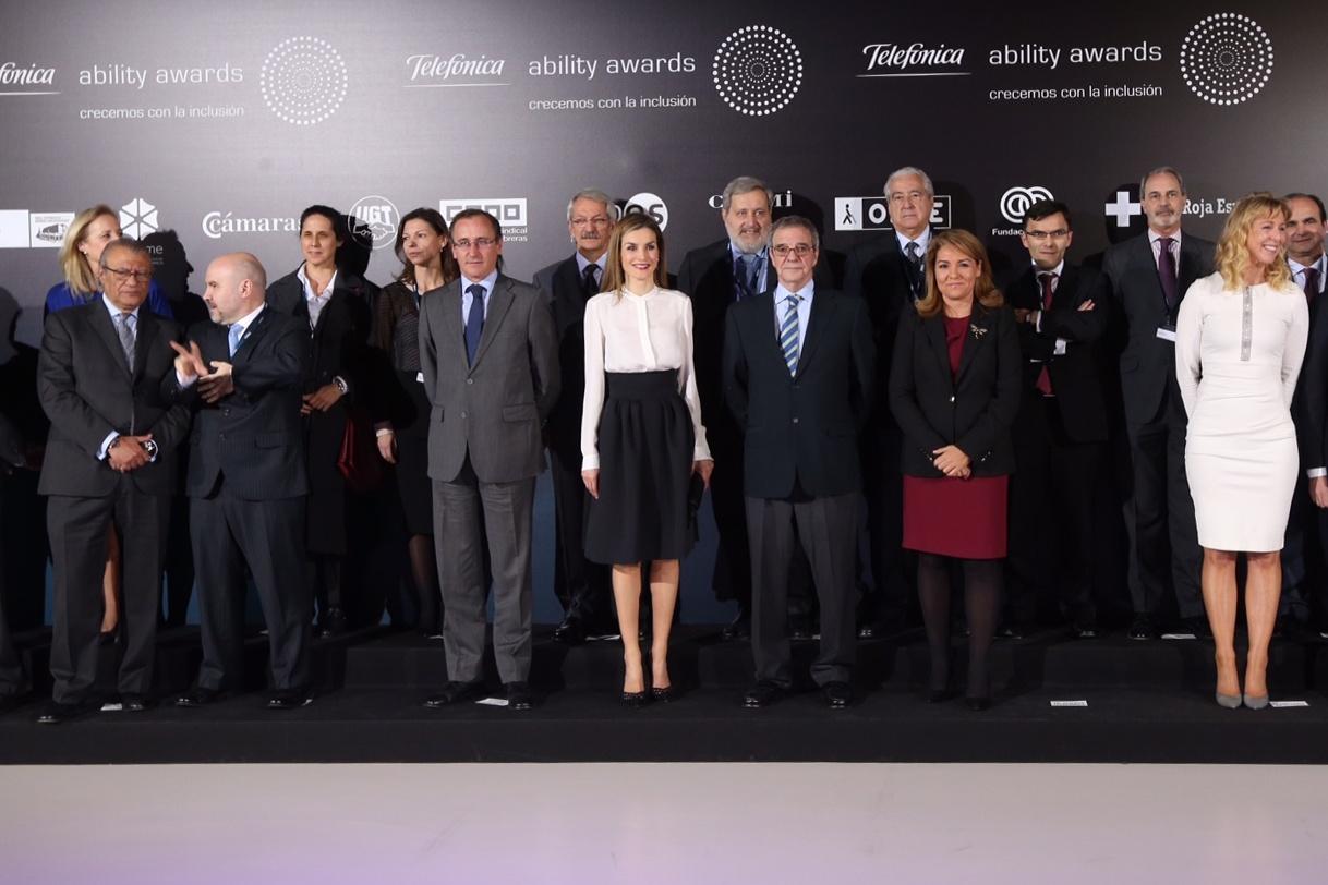 Letizia at Telefónica Ability Awards