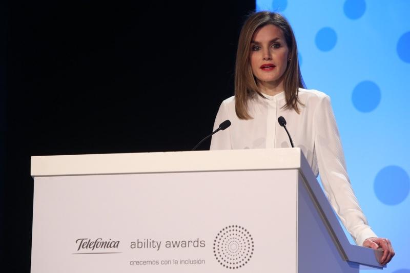 Letizia gives speech at Telefónica Ability Awards