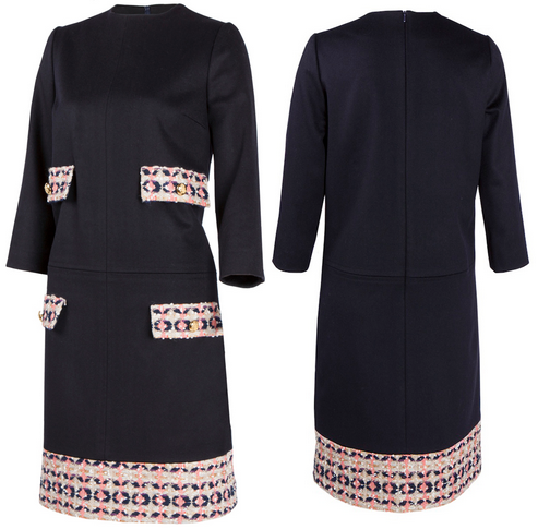 Madderson London Naomi French Tweed & Wool Shift Dress