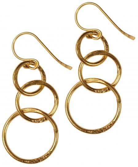 Mirabelle Lolita Gold Plated Loop Earrings