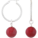 Alexandra Platas 'Blooming Light' earrings in fuchsia agate
