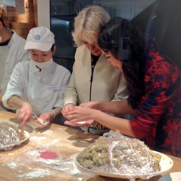 Camilla makes dumplings in Chinatown