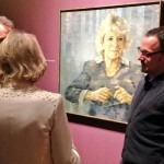 Camilla views portrait by Jonathan Yeo at Laing Art Gallery