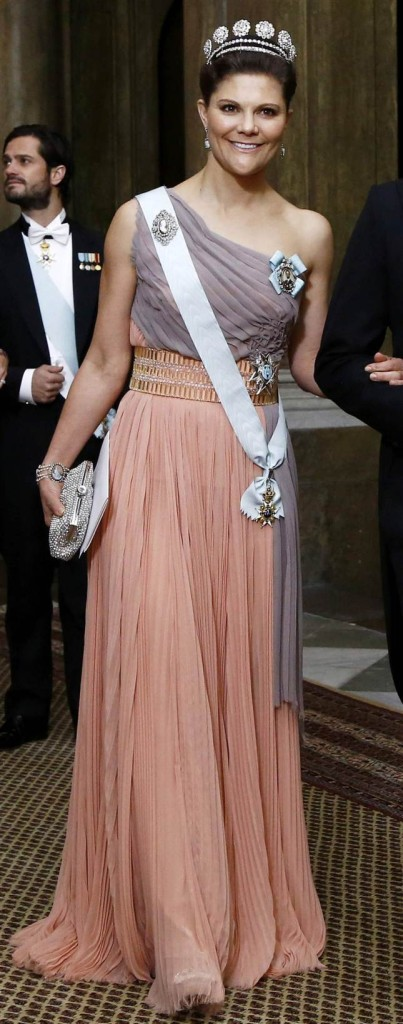 Crown Princess Victoria at official dinner