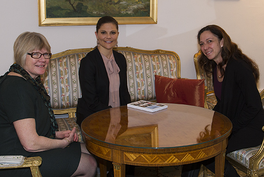 Crown Princess Victoria attends meeting with National Association of Rare Disorders