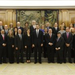 Felipe and Letizia receive representation of symposium attendees