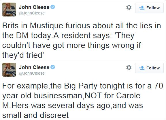 John Cleese Twitter