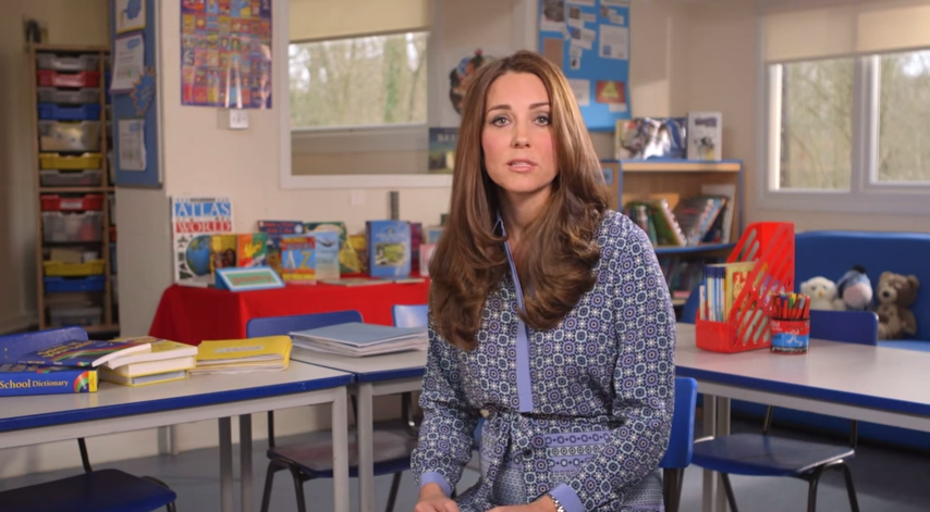 Kate in Place2Be video message still 2