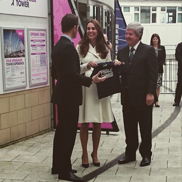 Kate receives mini Ben Ainslie Racing team kit for Prince George