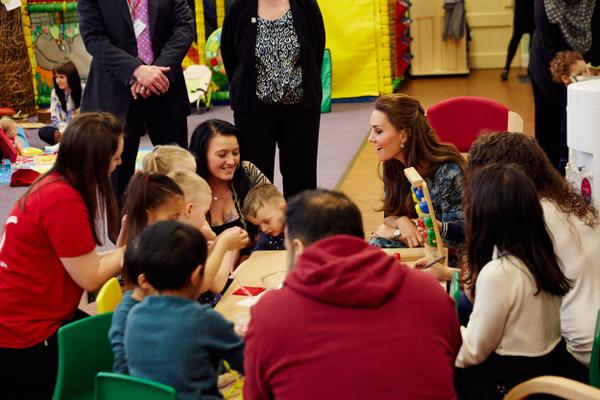 Kate talking to parents and kids at Action for Children 2