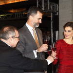 Letizia and Felipe toast at Cavas Freixenet