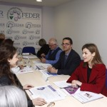 Letizia during meeting of FEDER board