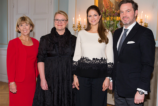 Princess Madeleine meets governor over lunch at Gävle Castle